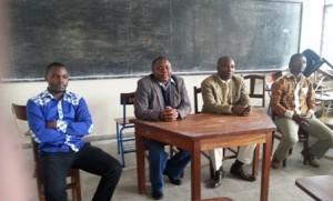 De gauche à droite : Ir Roul Irenge, Prof. Vianey Kyamakya, Prof. Joseph Wasso et Ir Cherif Bishweka