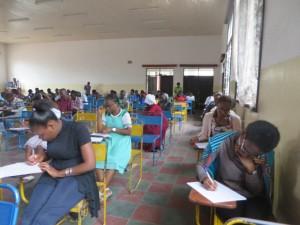 Les étudiants qui passent l'examen