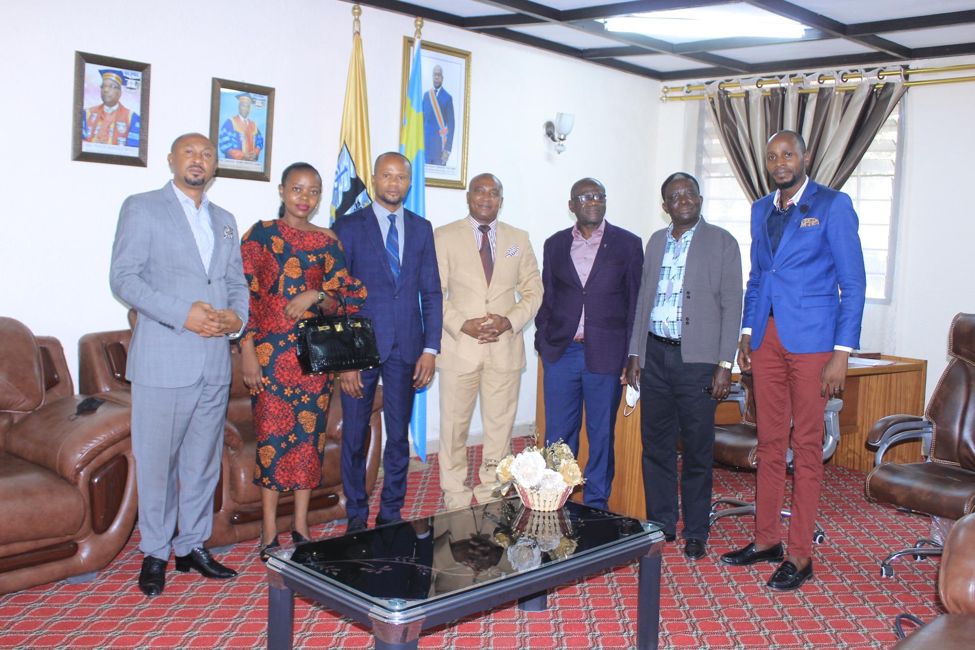 Visite de travail de la commission de contrôle de scolarité et de la viabilité des établissements de l'enseignement supérieur et universitaire, ULPGL/Goma.